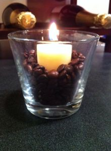 Candle In Coffee